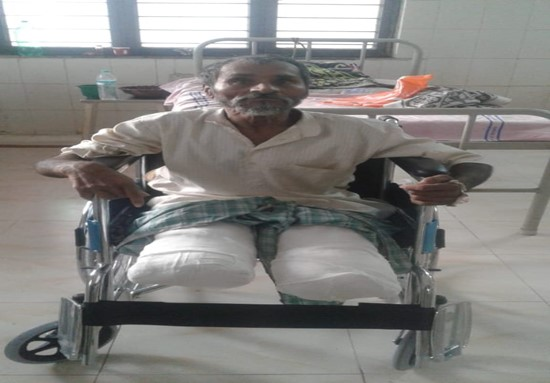 Healthcare NGO provides relief for man who lost both his legs
