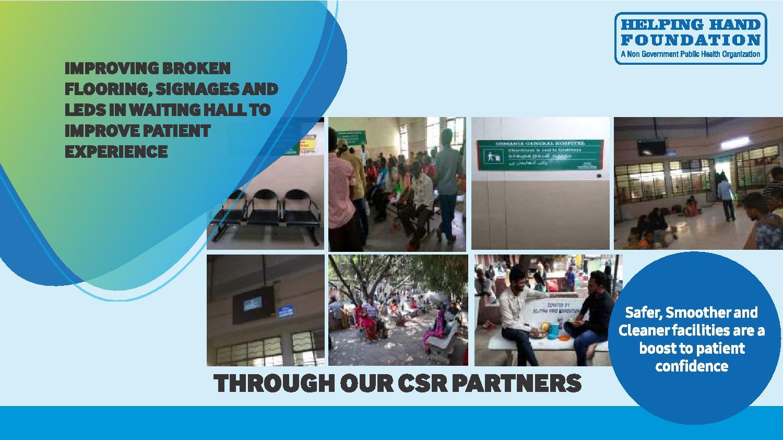 Improving Facilities at Govt. Hospitals